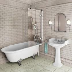Burlington C9 шторка на ванну 85 см, цвет Хром