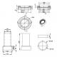 Burlington C26 керамический сифон для унитаза